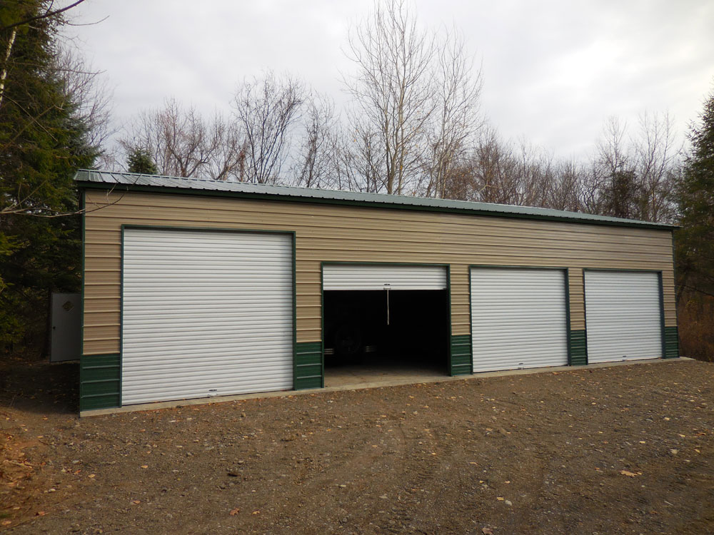 Joe 39 s carports and metal buildings mechanicville ny for 30 by 50 garage